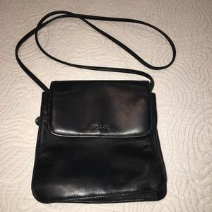 Small Black leather Fossil crossbody bag
